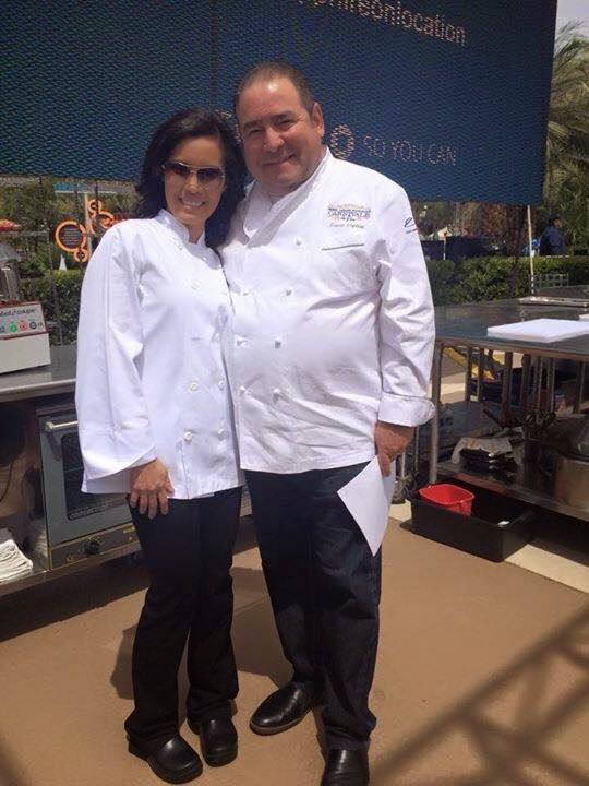 Chase Sapphire Preferred Grill Challenge 2015 winners  Chef Lagasse and Elsa Sabellano Jenstad