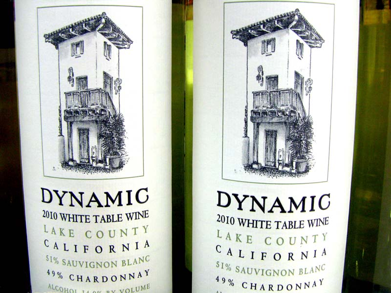 Drinks with musical names - Dynamic White Table Wine