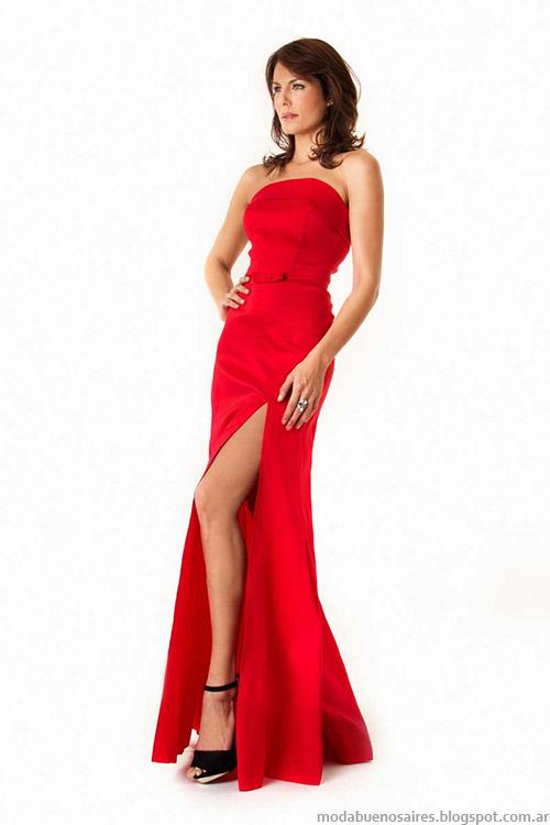 Moda 2015 vestidos de fiesta largos Verónica Far.