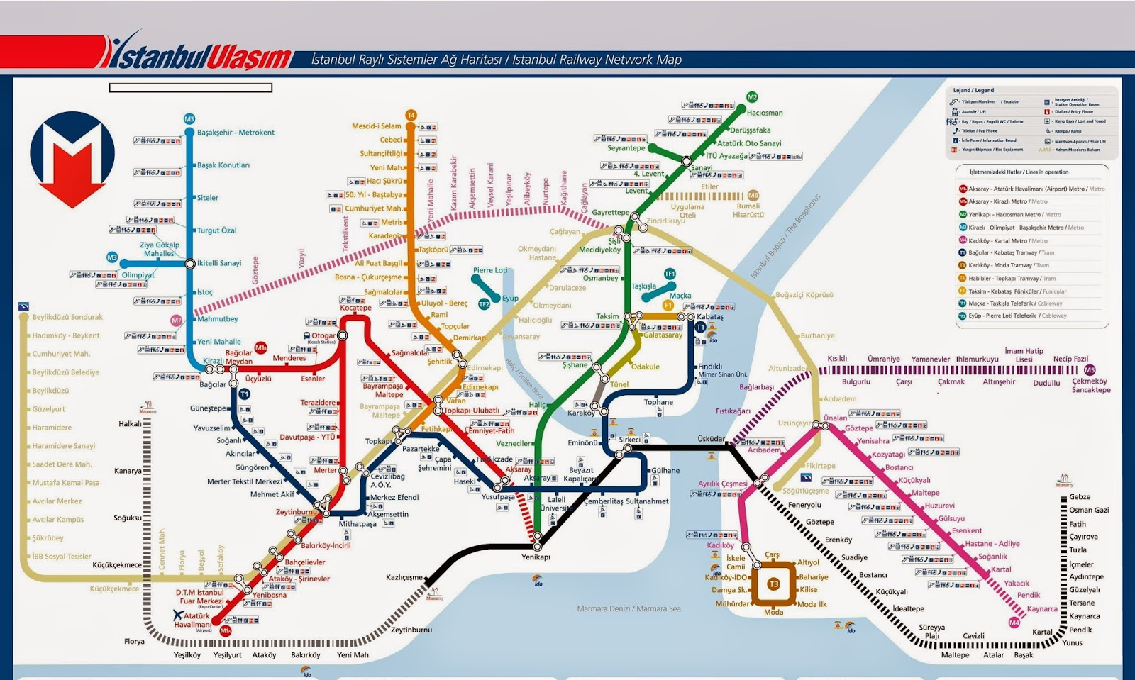 istanbul transportation map