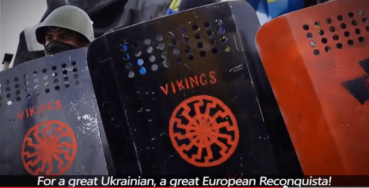 Visup july 2014 the ukrainian right sector using the black sun emblem on their riot shields buycottarizona