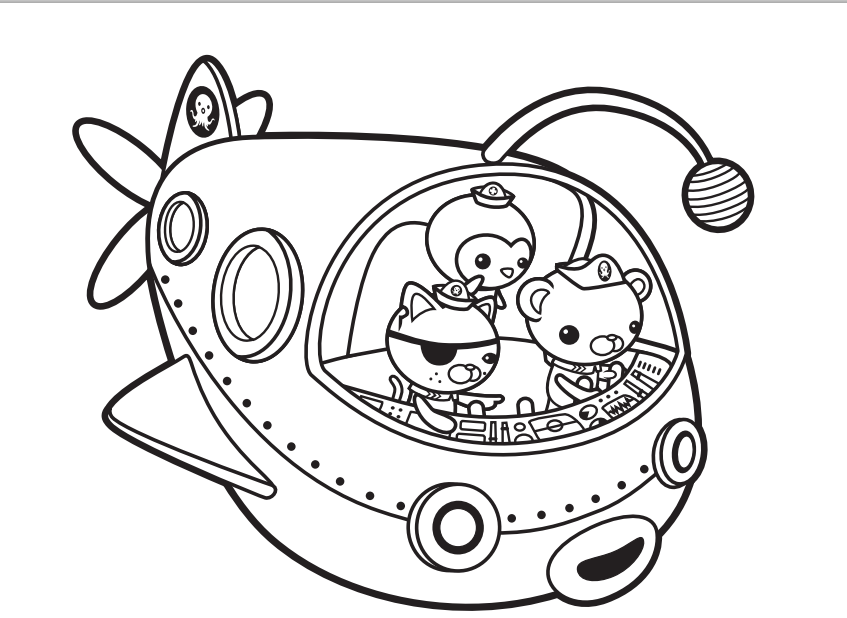 Octonauts Coloring Pages Disney Jr : Inspired by savannah pre order octonauts to the gup