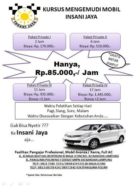 Insani Jaya - Kursus Nyetir di Lampung