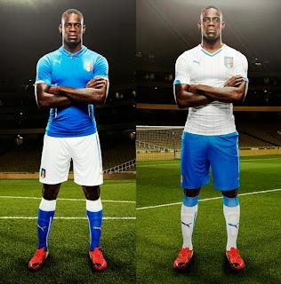 Le maillot de l'Italie de la Coupe du monde 2014
