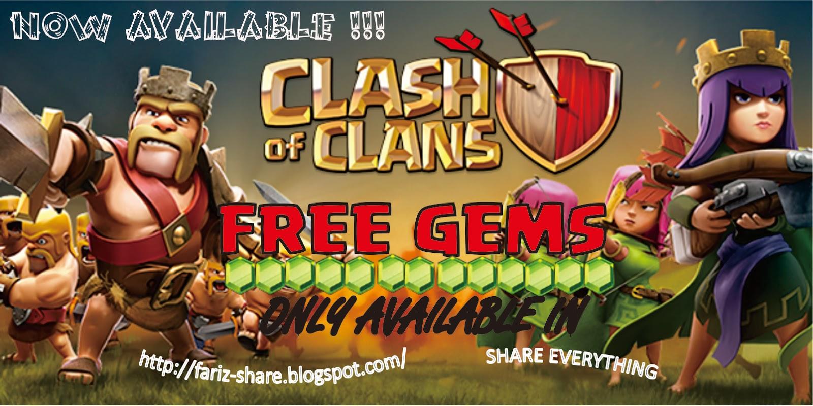 Free Gems COC
