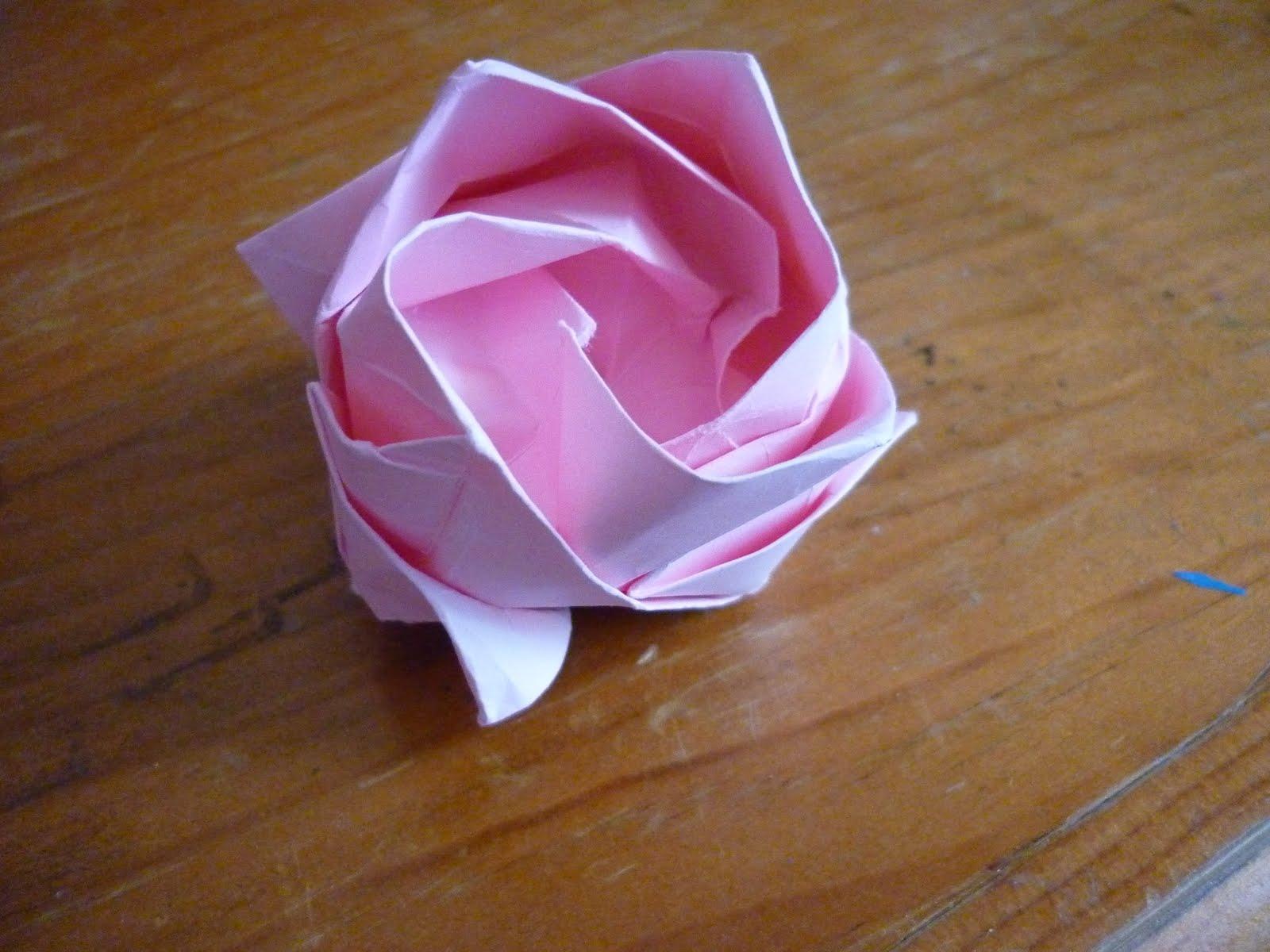Оригами роза фото схемы