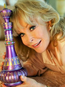 "Barbara Eden and her ""I Dream of Jeannie"" bottle"