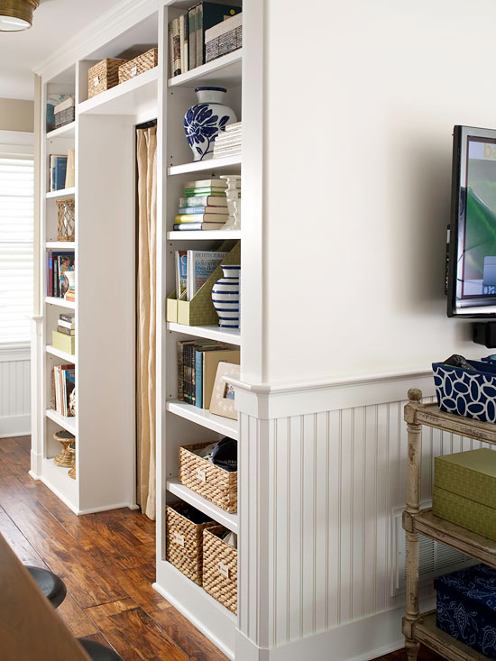 Modern furniture easy solutions to decorate a small space - Small space shelving ideas ...