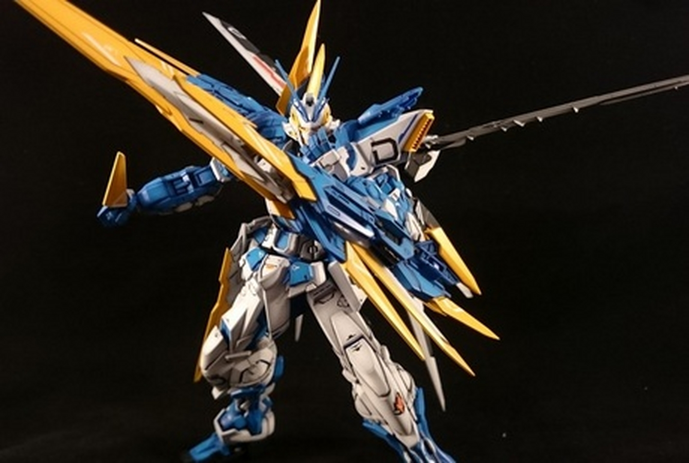 Gundam Astray Blue Frame Perfect Grade Second Revise Painted Build Mg 1 100 D