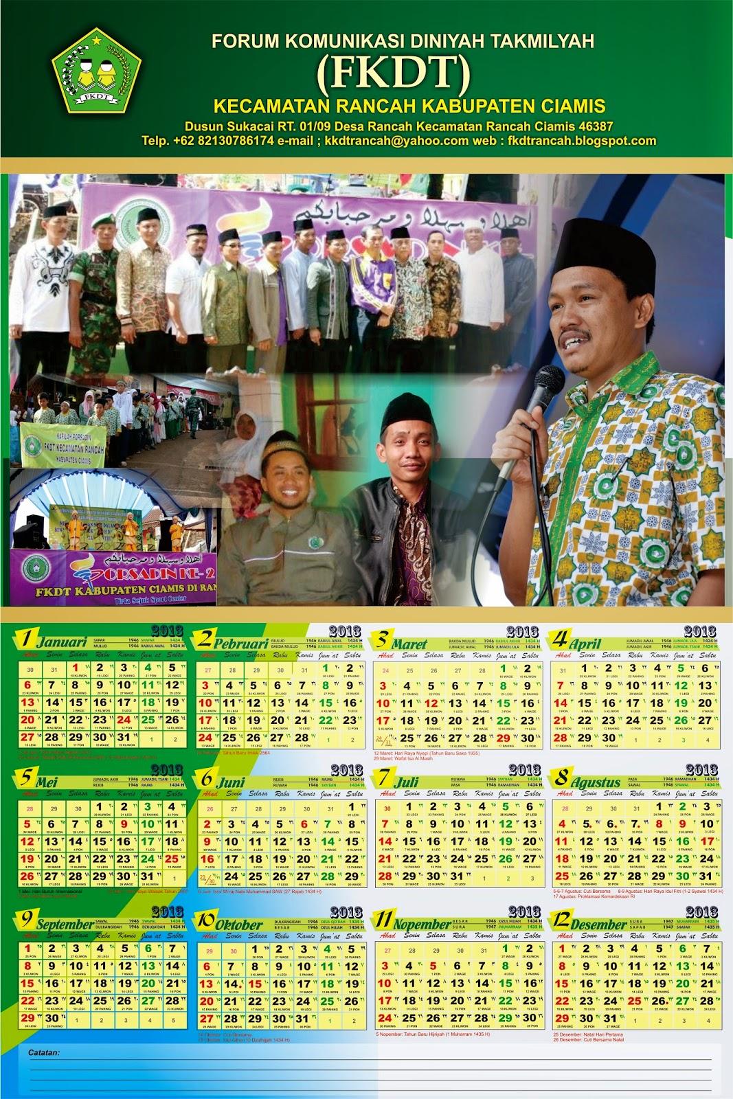 Pembuatan Design Kalender FKDT Rancah