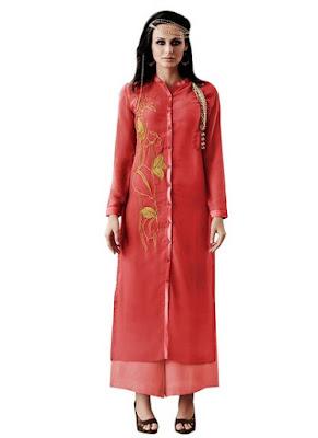 Online Chiffon Kurti Fashion