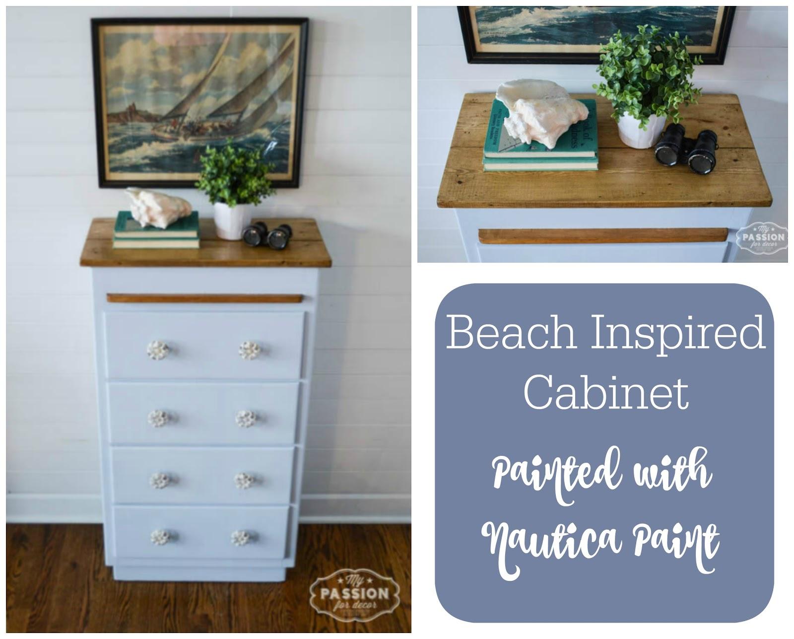 Beach Inspired Cabinet Using Nautica Paint