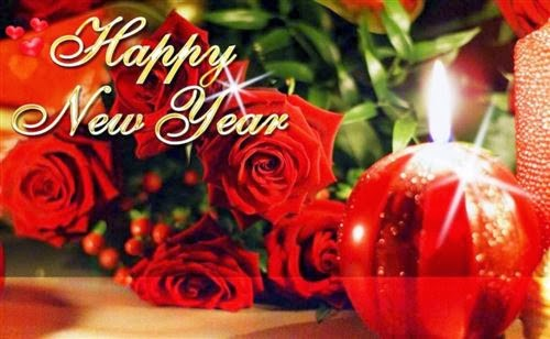 Free Happy New Year 2014 Greeting With Rose