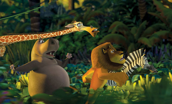 The animals in the jungle in Madagascar animatedfilmreviews.filminspector.com