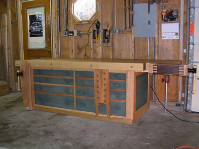shaker woodworking bench plans