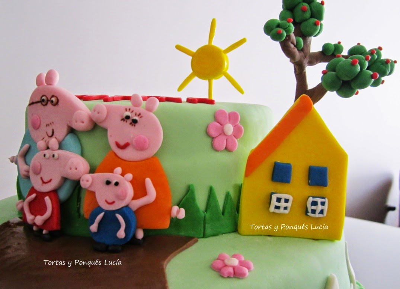 Tortas y ponques lucia torta peppa pig para cumplea os for Decoracion cumpleanos nina 2 anos
