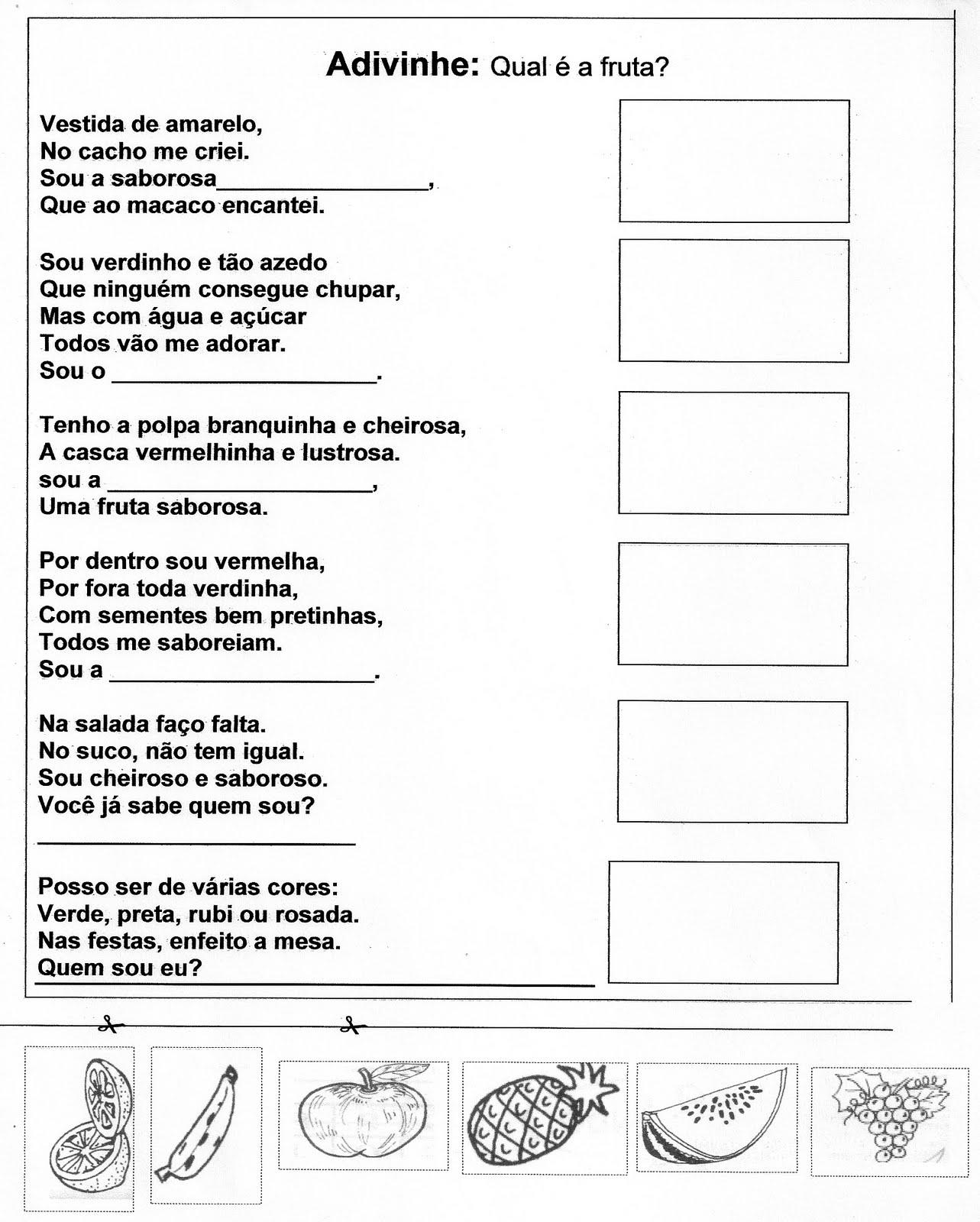 Well-known Mundo da Professora Flávia: Adivinhas - Qual é a fruta? YD78