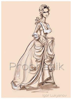 mode féminine du 19ème siècle, une robe avec un corset