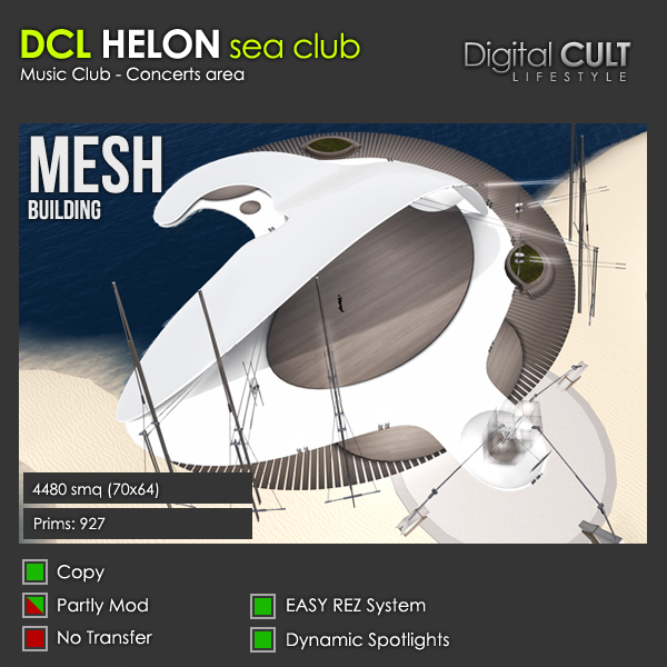Second Life Mesh Buildings The Helon Sea Club For Sale