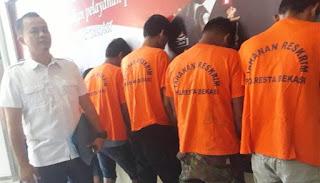 9 Pelaku Kejahatan Jalanan Dibekuk Team Kobra Reskrim Polres Metro Bekasi