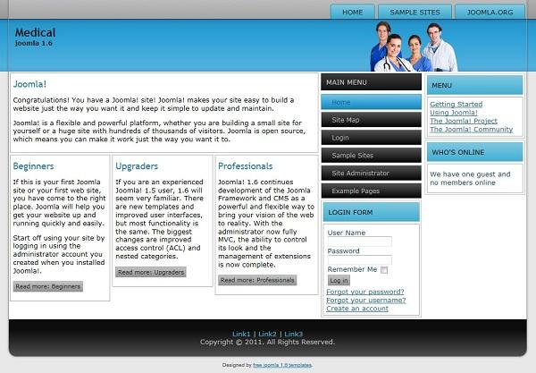 cms templates joomla 2 5 templates joomla 1 6 template for doctor 39 s office website. Black Bedroom Furniture Sets. Home Design Ideas