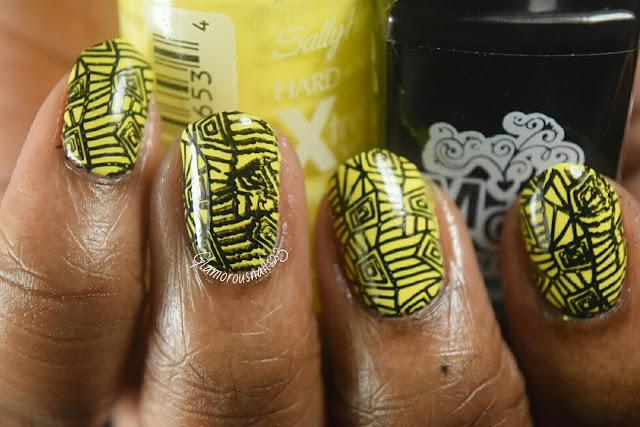 Funky Shapes Stamping Nail Art