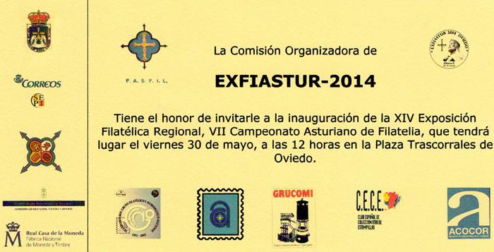 Invitación inauguración Exfiastur 2014