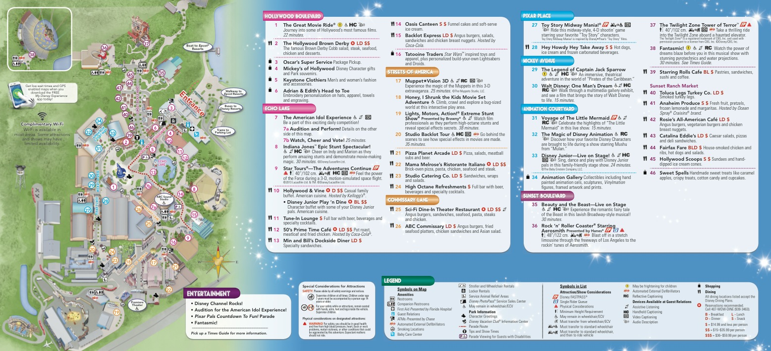 Parkscope the new walt disney world guide maps disney hollywood studios march 2013 click for larger version gumiabroncs Choice Image