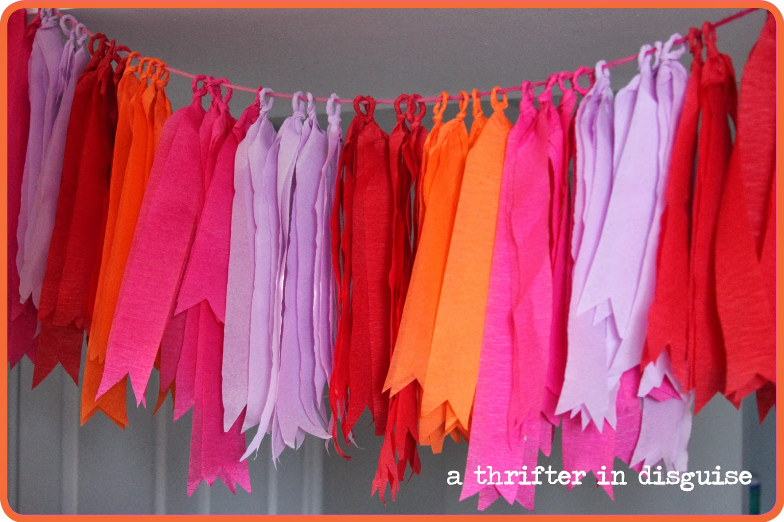A thrifter in disguise diy crepe paper party banner - Birthday decorations with crepe paper ...
