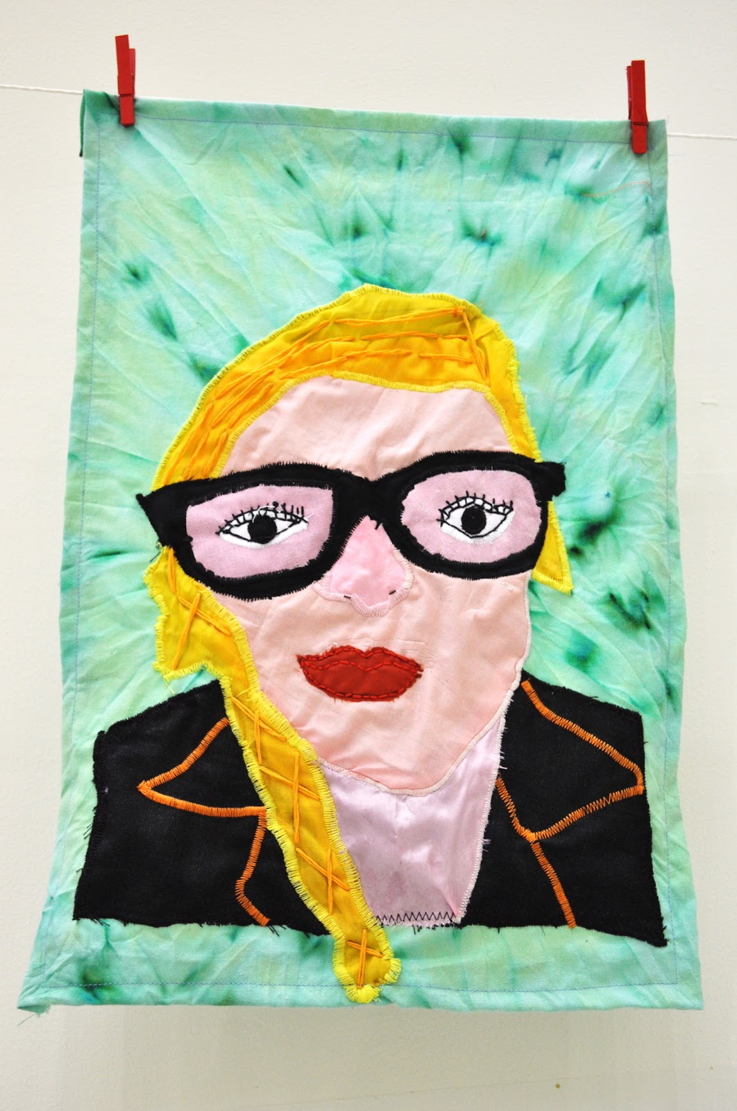 I teach art: Textile Portraits