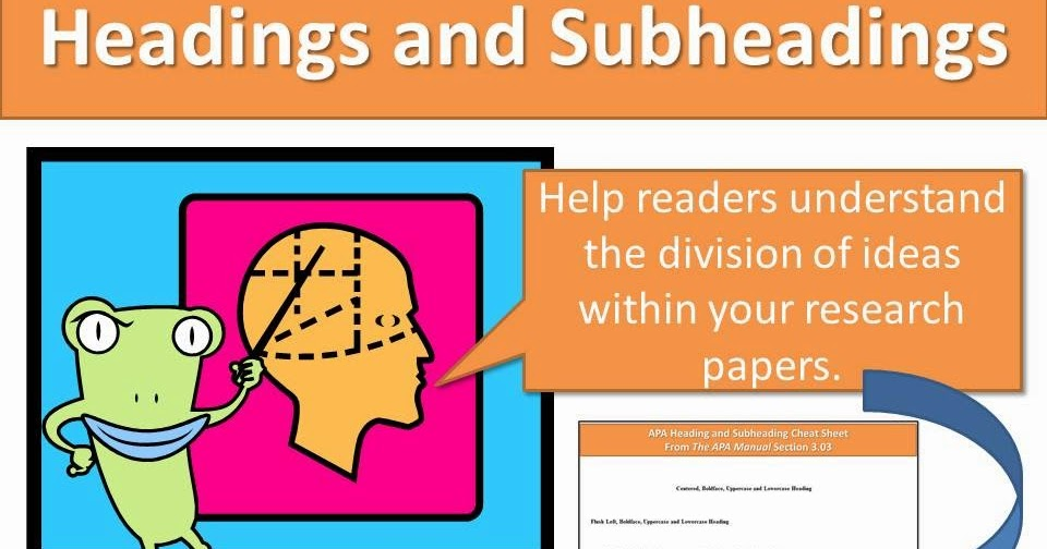 How to make section headings for essay