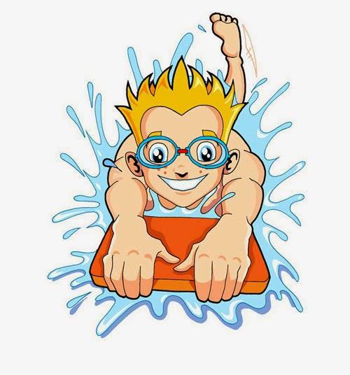 Gambar Berenang Kartun Lucu Swim Style Cartoon
