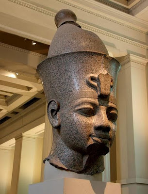 the Head of Amenhotep 3, Ancient Egypt in British Museum - London 2012, UK | Travel London Guide