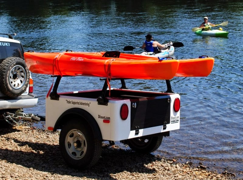 Jeep Trailer with Kayaks for a lightweight off road trailer visit dinoot.com