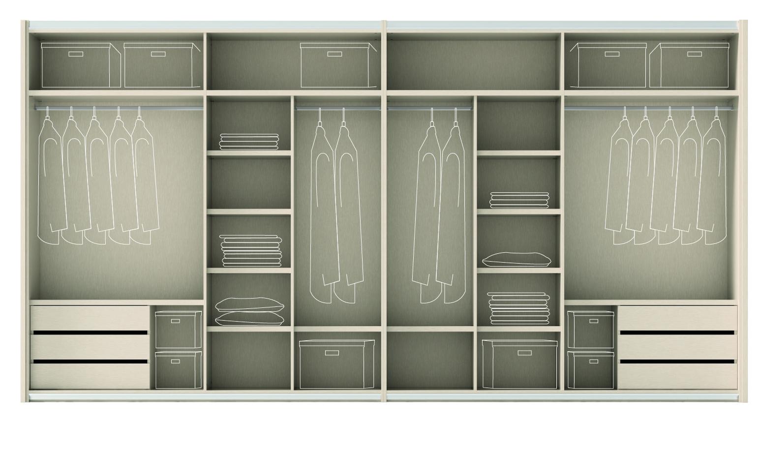 el armario y su interior