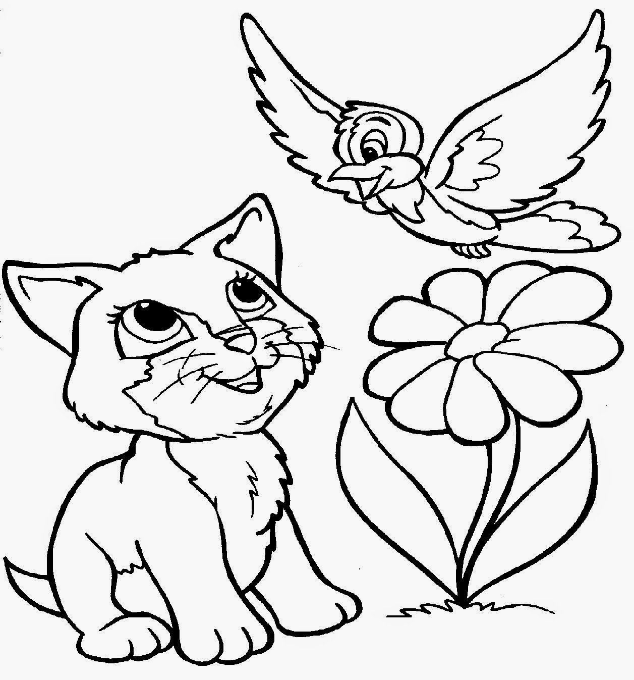 Pictures for coloring free coloring pictures for Coloring pages kitten