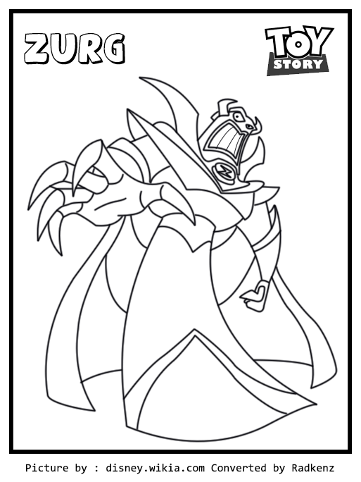 toy story zurg coloring page