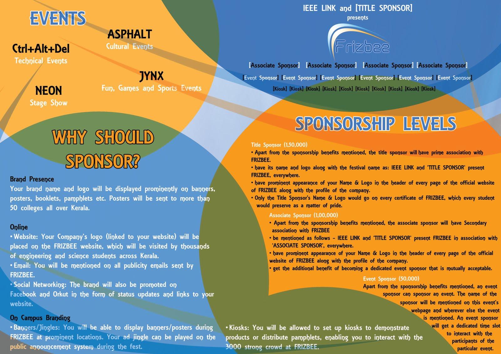 Sponsorship Brochure Template - Sponsorship brochure template
