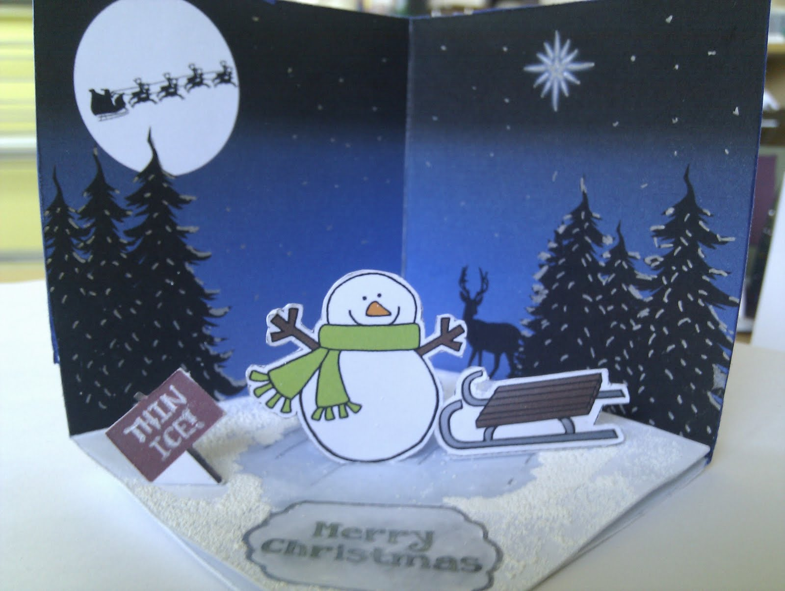 Christmas Cards With Windows Window on The Card Above
