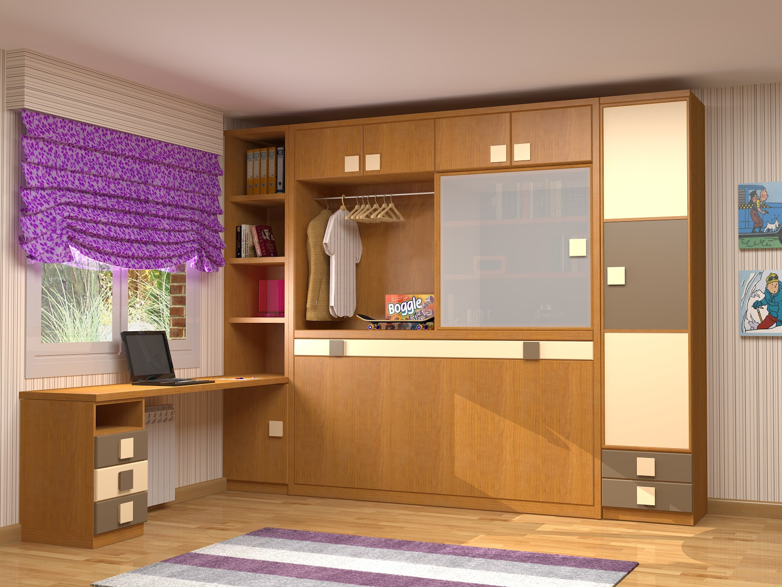 Muebles juveniles dormitorios infantiles y habitaciones for Mueble juvenil cama abatible