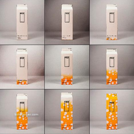 milk carton that changes color before expiring