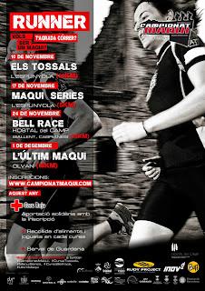Cartell promocional del Campionat Maqui 2013 de curses de muntanya entre el bages i el berguedà