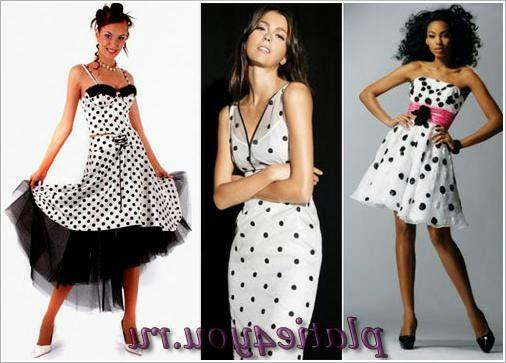 Платья в горошек. Dress polka dots
