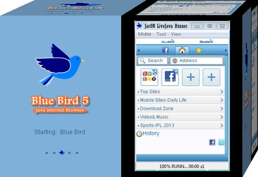 Blue Bird Java Internet Browser Versi 5 - Internet,Download,Upload ...