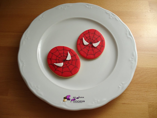 galletas, spiderman, fondant, galletas fondant, galletas spiderman