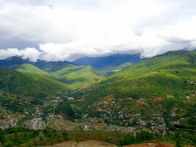 beautiful green thimphu city bhutan
