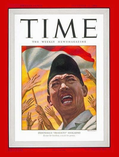 President Sukarno became TIMES magazine cover 1946
