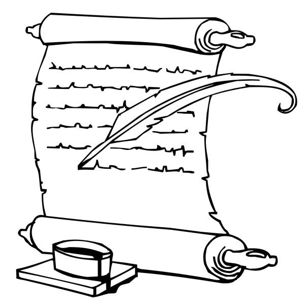 Desenho Bíblico Para Pintar - Pergaminho 1