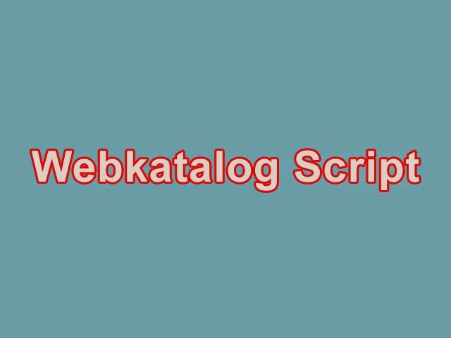Webkatalog Script