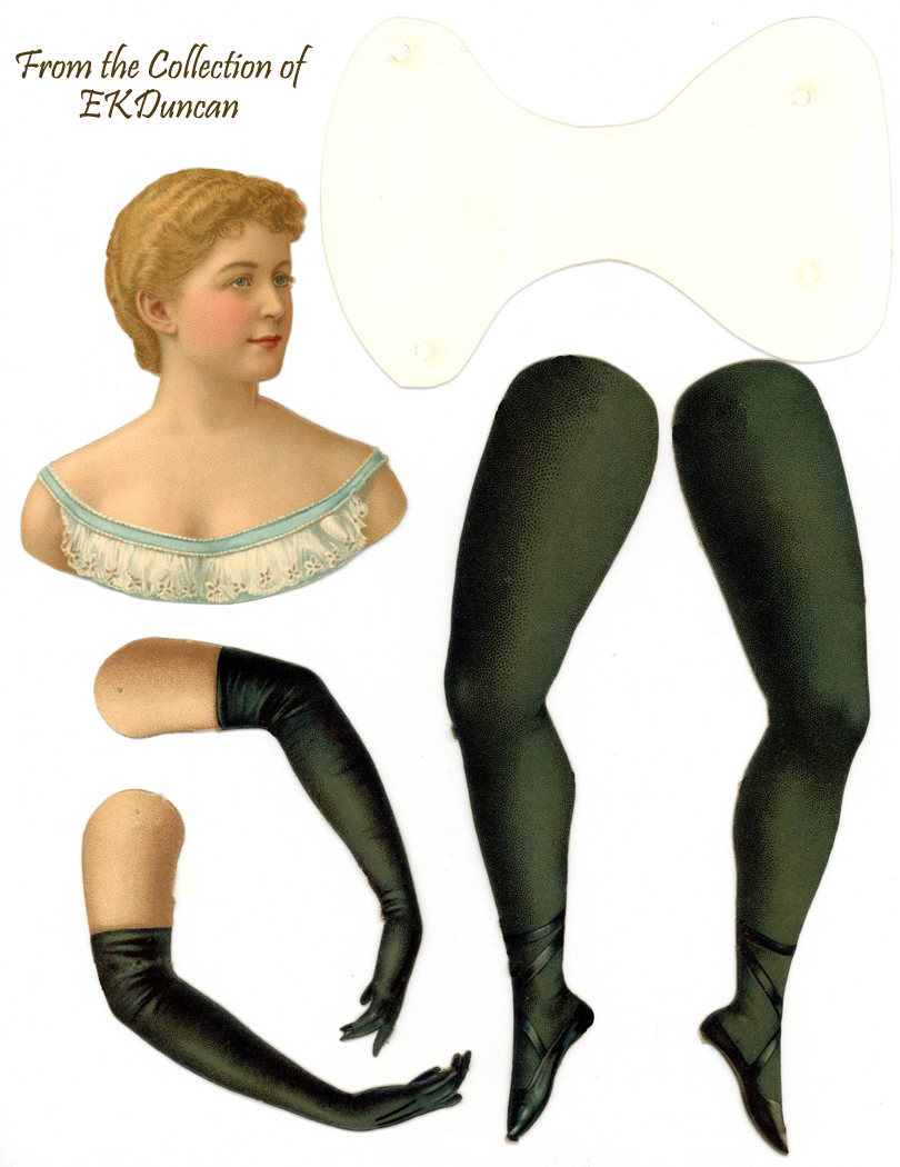 Actress Della Fox - Blond with Blue Bodice